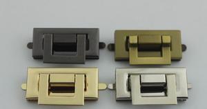 Image 2 - Accesorios para bolsas 10 unids/lote, piezas de hardware de bolsa, accesorios de fundición a presión de oro, accesorios de hardware de bloqueo de giro