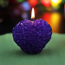 Nicole r0514 three-dimensional heart rose ball valentine day chocolate glue soap mould