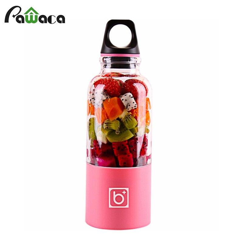 Licuadora exprimidora recargable USB portátil exprimidora eléctrica exprimidora extractora de jugo de naranja de fruta 500 ml