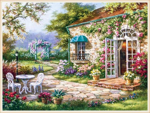 Diamant broderie bricolage diamant peinture point de croix for Decoration jardin printemps
