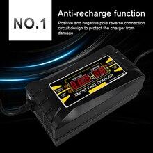 Автомобильное зарядное устройство полностью В автоматическое В 250 В/150 в до В 12 В 6A Smart Fast power Зарядка для влажной сухой свинцово-кислотной ЖК-дисплей EU Plug
