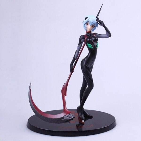 Бесплатная доставка 11 EVA Евангелион Аниме Ayanami Rei с оружием предусмотрена 27 см ПВХ фигурку Коллекция модель Куклы