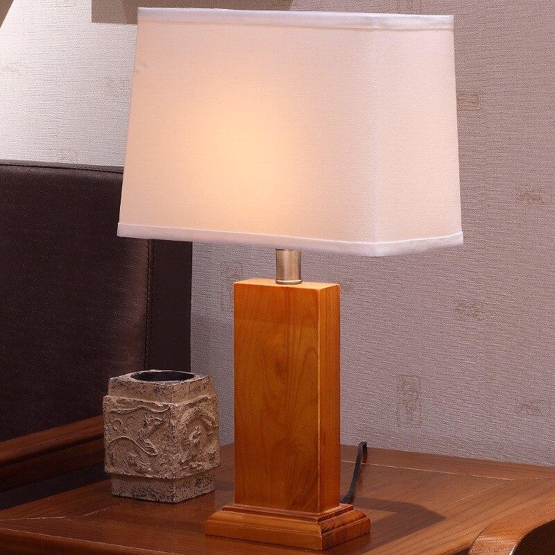 Туда Бесплатная доставка Современные Стиль дерево настольная лампа для Гостиная Кабинет Настольная лампа