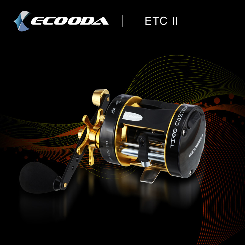 Ecooda Trolling Reel Fishing ETC 40/50 Size Right/Left Hand Casting Sea Fishing Reel Saltwater Baitcasting Reel Coil metal round jigging reel 6 1 bearing saltwater trolling drum reels right hand fishing sea coil baitcasting reel