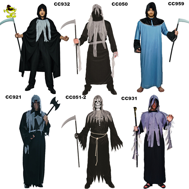 new holiday costumes halloween shredded robe costumes adults men black scary halloween party cosplay shredded robe