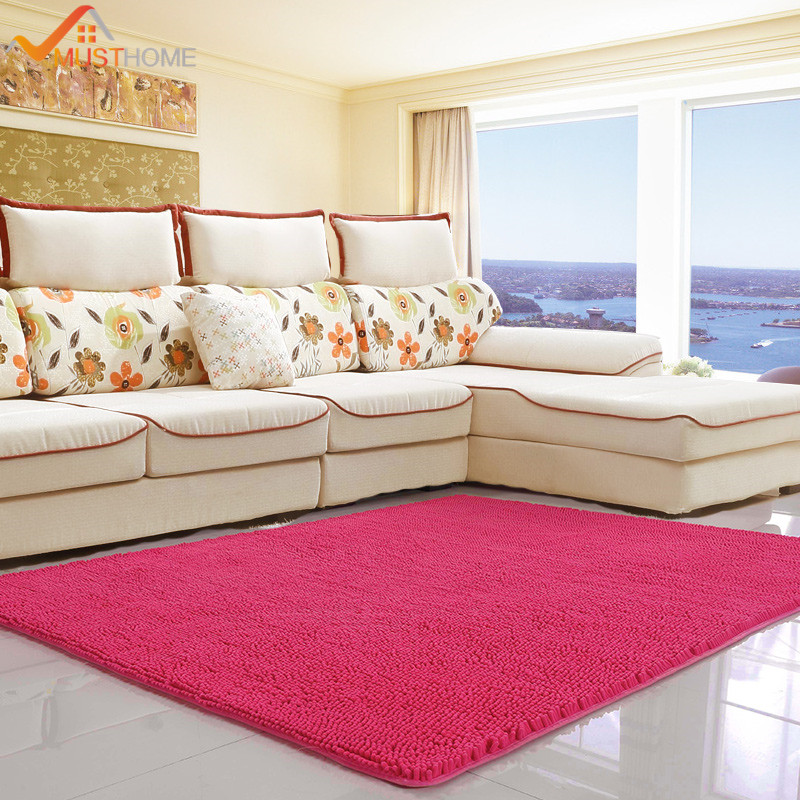 80x140cm/31x55 Chenille Microfiber Floor Rugs For Living Room Large Easy To Clean Throw Rugs For Bedroom