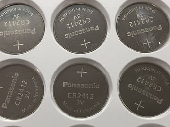 50pcs/lot Panasonic CR2412 3V Lithium Coin watch Key Fobs Battery Batteries Cell For swatch watch For LEXUS Car Controller
