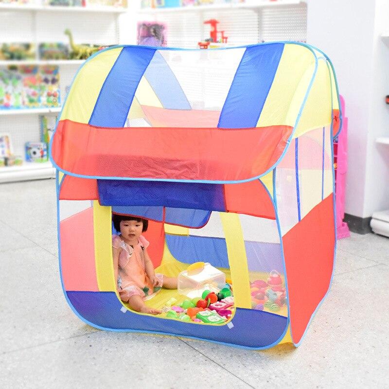 Tente bébé jouet plage Portable voyage Up soleil jouer lit abri extérieur ombre Orange enfants jouets