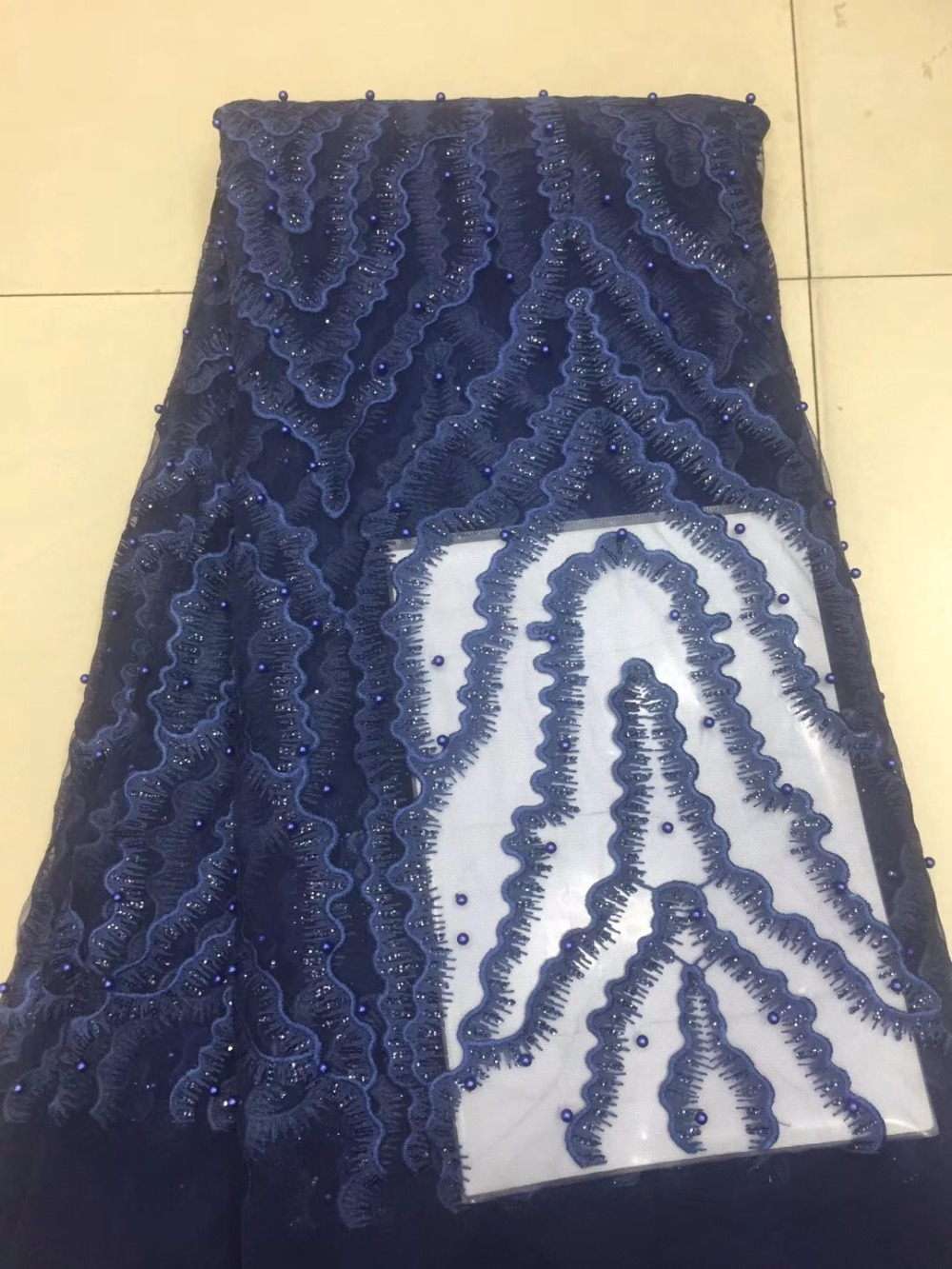 Nigerian Lace Fabric 2018 High Quality Lace Lace Fabric Beautiful beads Lace For African Wedding DressNigerian Lace Fabric 2018 High Quality Lace Lace Fabric Beautiful beads Lace For African Wedding Dress