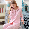 Autumn Sleepwear Female Long-sleeve 100% Brief Cotton Casual Sweet Spring And Autumn 100% Cotton Lounge Set