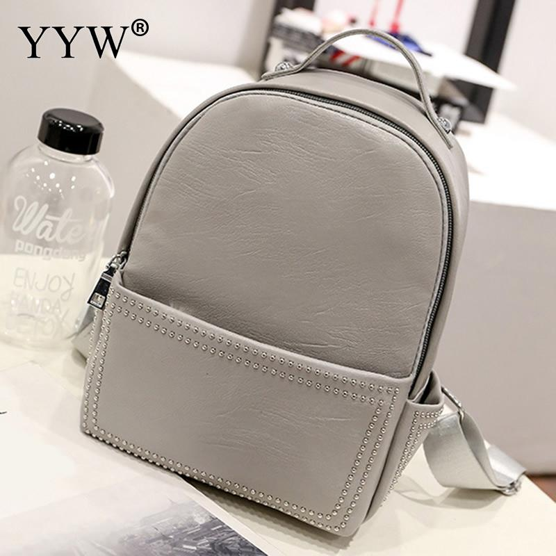 YYW Travel Backpack Pu Leather Women Backpack High Quality Mochila Escolar School Bags For Teenagers Girls Top-Handle Backpacks women backpack high quality pu leather mochila escolar school bags for teenagers girls top handle backpacks herald fashion page 5