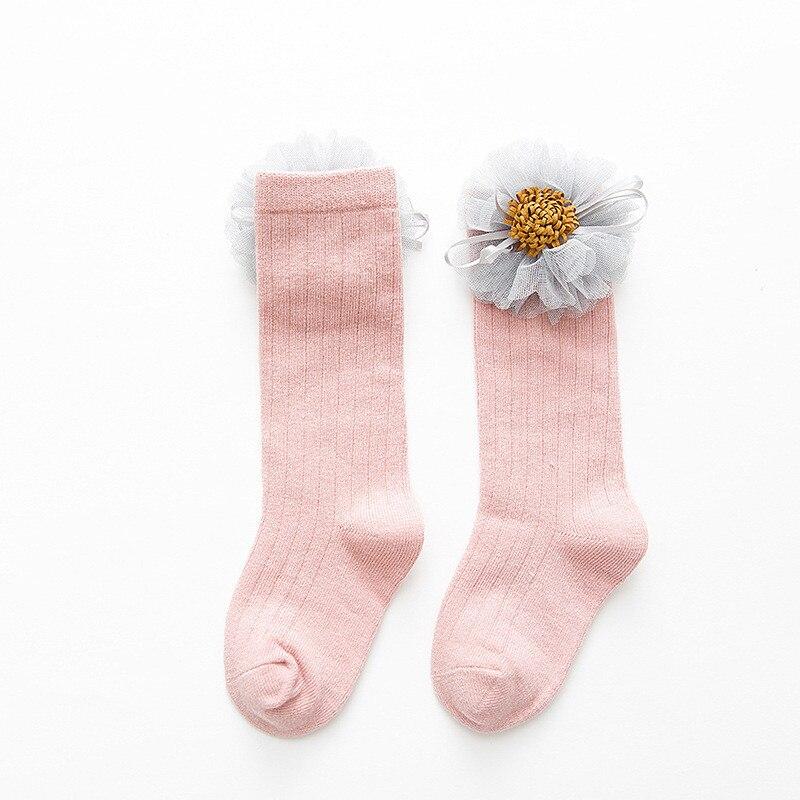 LAWADKA Cotton Kids Socks Princess Long Socks Girl Children's Knee High Socks Girl Socks Children Flowers Swans Style 1-8 Years 4