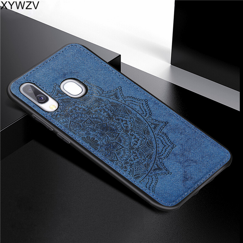 Image 4 - For Samsung Galaxy A40 Case Soft Silicone Luxury Cloth Texture Hard PC Phone Case For Samsung Galaxy A40 Cover For Samsung A40-in Fitted Cases from Cellphones & Telecommunications