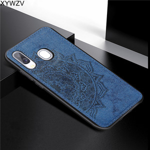 Image 4 - For Samsung Galaxy A40 Case Soft Silicone Luxury Cloth Texture Hard PC Phone Case For Samsung Galaxy A40 Cover For Samsung A40