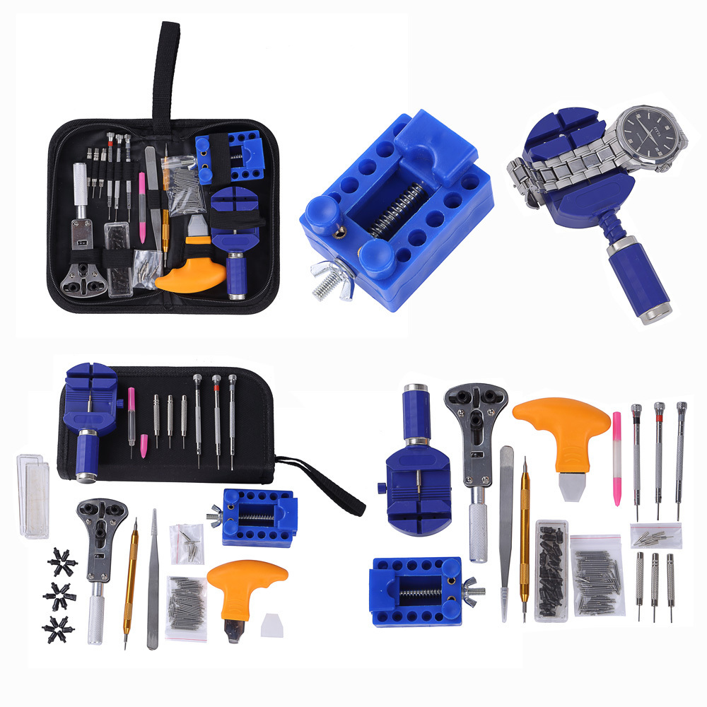 144 pcs Montre Outils Montre de Réparation D'ouvreur Outil Kit Horloge Repair Tool Kit D'ouvreur de Cas Lien Montre Pin Remover Set printemps Bar Usine
