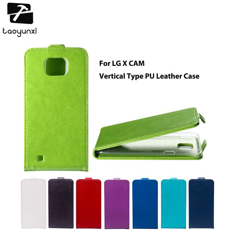 TAOYUNXI Flip Phone Covers Case For LG X Cam F650 K580 K580Y X-cam K580 K580DS 5.2 inch Case TPU PU Leather Magnetic Cover Bags