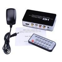 New HDMI AV CVBS USB Media To HDMI Video Converter Adapter USB Media Player 720p 1080p (HDMI+CVBS+USB Media To HDMI)