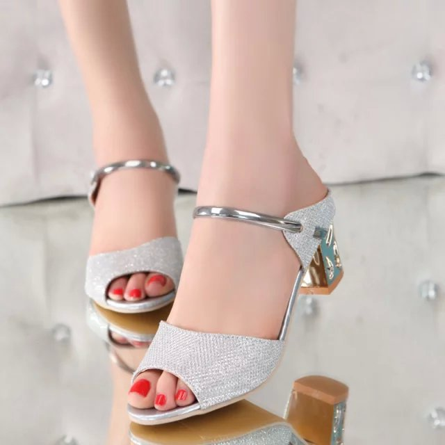 b0350c3f50b7c Women Sandals Sexy High Heels Women Pumps 2018 Women Shoes Gold Silver  Summer Sandals Heels Ladies Shoes-in Middle Heels from Shoes on  Aliexpress.com ...