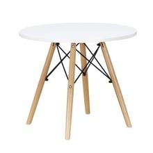 Детский стол, современный классический детский обеденный стол, МДФ, детский стол для отдыха, детский стол для обучения, с деревянными ножками, боковой стол, чайный стол