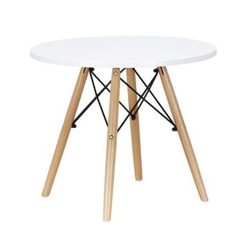 Stół dla dzieci Modern Classic stolik obiadowy dla dzieci MDF do zabawy dla dzieci stół ogrodowy biurko dla dzieci do nauki z drewnianym stolik stolik do herbaty tanie i dobre opinie Nowoczesna i minimalistyczna KT-147W Na bazie drewna panele stenzhorn WOOD ROUND Dia 60*H47cm Montaż
