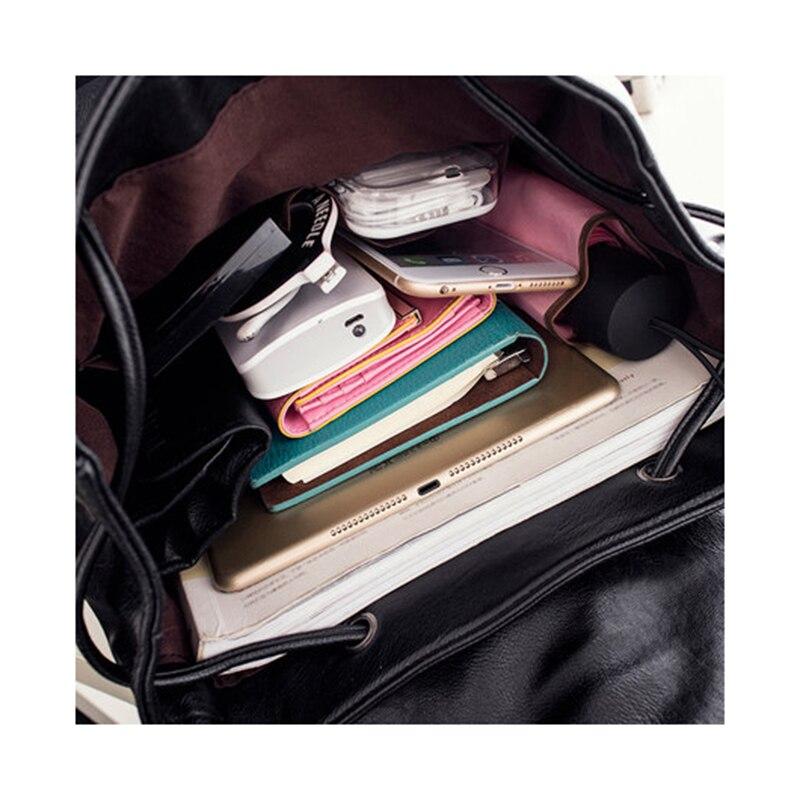 Image 4 - Women backpack  leather bags school backpacks female girls college preppy bag bowkont waterproof backbag Lady black mochilasBackpacks   -