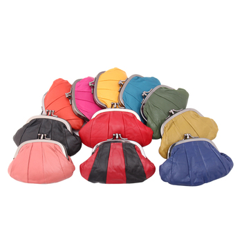 Casual Women Genuine Leather Coin Purse Mini Size Small Wallet Female Real Sheepskin Creative Designer Individuation Coin Bags