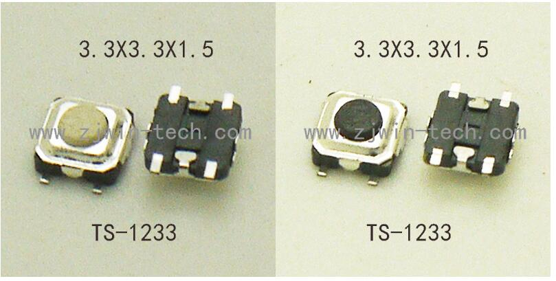 50PCS Super Tiny Tactile Push Button Switch Phone Button SMD Micro Momentary Switch 3X3X1.5/2mm SMD PCB mounting Black/White стоимость