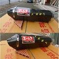 Personalizado fibra de carbono universal motocicleta escape echappement moto z750 er6n tmax 500 crf 230 fz6 cb400 tubo de escape moto gsxr