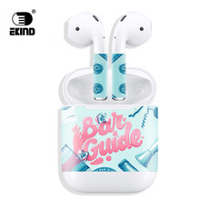 New Release Protective Vinyl EKIND Sticker earphone For Apple AirPods Skins Removable Adhesive Decorative Decal Wrap(China)