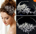 The new high-end crystal tiaras100% handmade wedding accessories summer style beautiful bridal headband hair jewelry for women