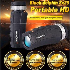 Adult and kids HD 8x25 Zoom Monocular BAK4 Optics Portable Waterproof Spyglass Binocular Telescope for Hunting Outdoor Tourism