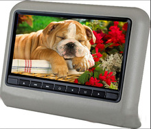 9inch headrest monitor DVD Player with 800x 480 screen support USB/SD/ FM IR transmitter games built in speaker free shipping