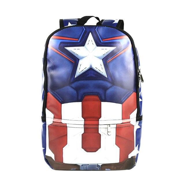 98ec09dfbd Captain America sac à dos scolaire Marvel les Avengers BatMan sac de voyage  en cuir impression