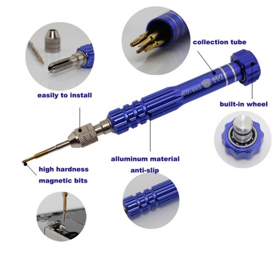 Mobile Phone Repair Tools Kit 5 in 1 Precision Screwdriver Bits Set -2.0 T5 PH000 T6 Pentalobe 0.8 For iPhone 4/5/6 Plus Samsung