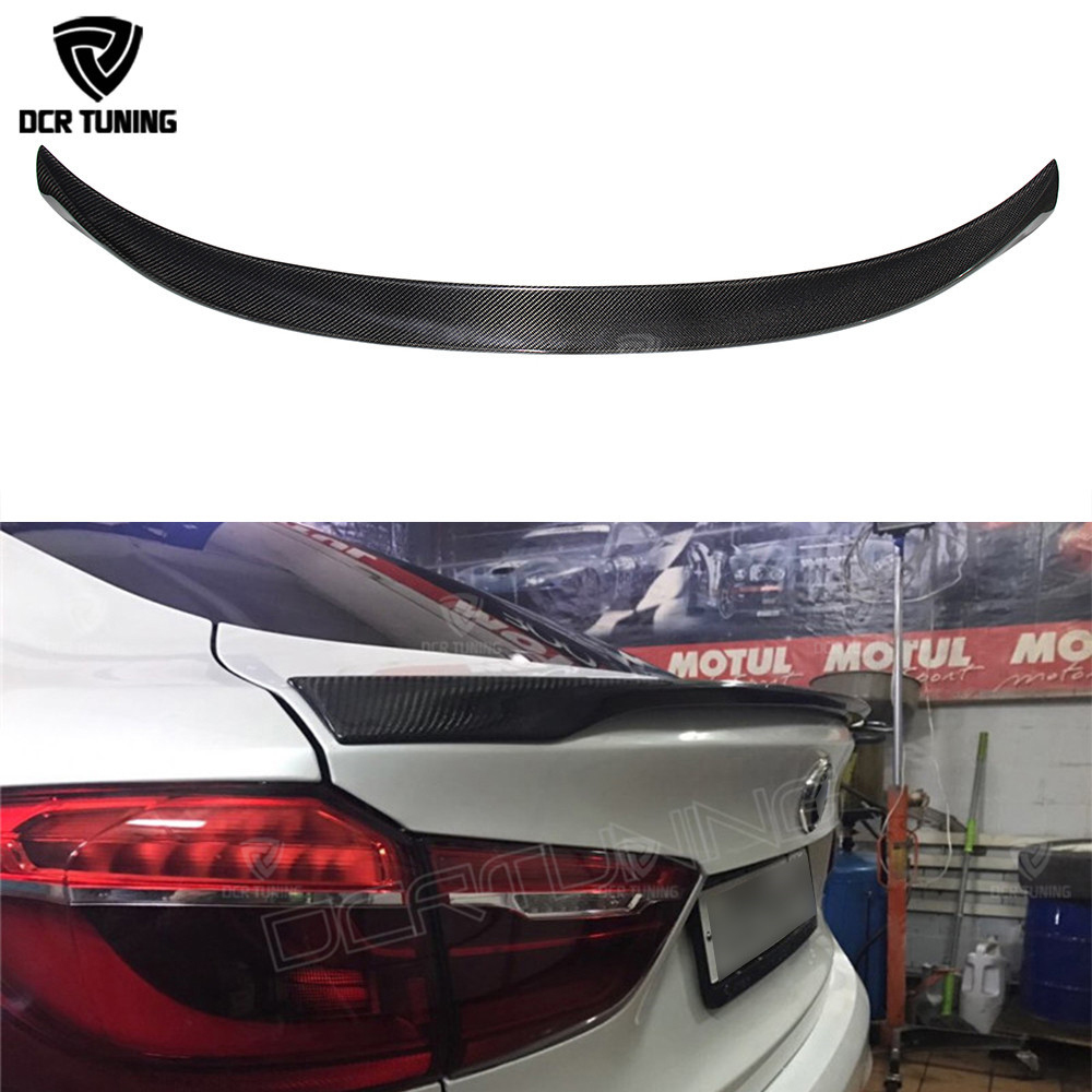 For BMW X6 F16 Spoiler Carbon Fiber Material 2014 2015 2016 - UP X6 Carbon Spoiler M Performance Style carbon wings car styling carbon fiber mirror rearview cover 2pcs for bmw x6 f16 2015