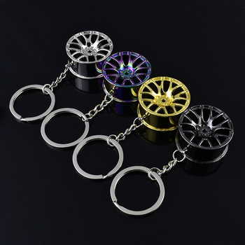 High quality metal car key ring BBS LM Wheel hub rim style for bmw mercedes benz ford toyota honda audi chevrolet buick Keychain image