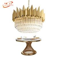 Modern Glass Crystal Chandelier Lighting Luxury Suspension Hanging Lamp Contemporary Living Dining Room Chandelier Lighting