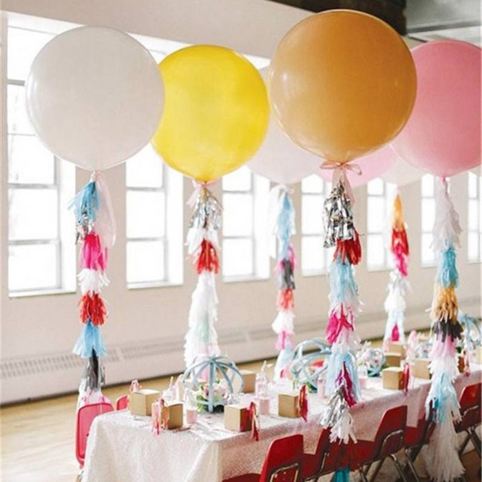 Colorful 36 Giant Balloons Wedding Party Decoration Latex Helium Balloon Large Air Arch Child Birthday Gift Kids Toy On Aliexpress Alibaba