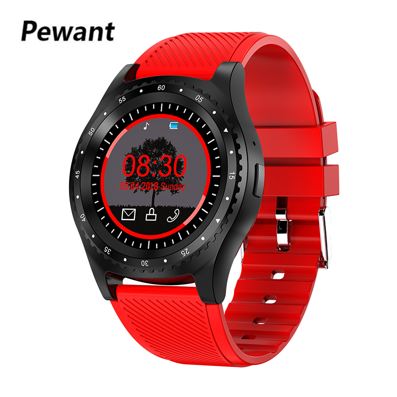 Nouveau Pewant montre intelligente multi-sport Mode Smartwatch carte SIM 0.3MP caméra montre-bracelet soutien sommeil Tracker pour iPhone Samsung