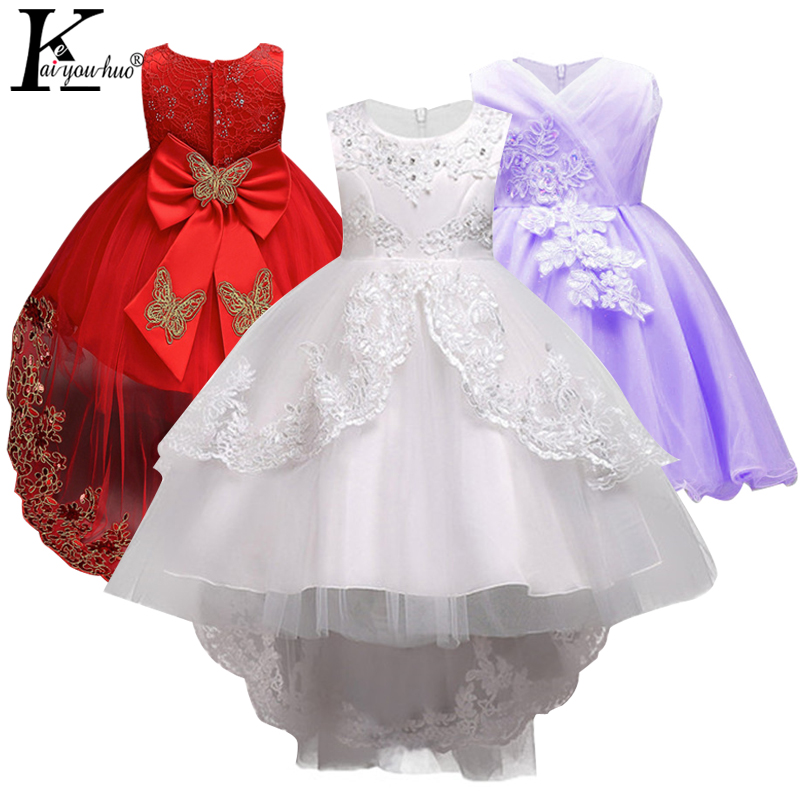 Girls Dress 2018 New Christmas Tutu Kjoler For Girls Clothing Kids Costume Princess Bow Bryllupsklær Barneklær Vestidos
