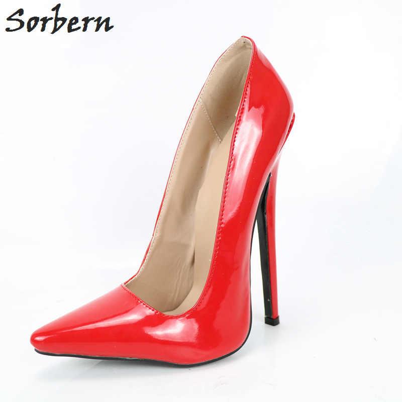 673702355a97 Sorbern Multi Colors Women Red High Heels 15Cm Stilettos Party Shoes Women  Evening Shoes Spike Heels