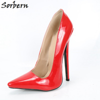 Sorbern Multi Colors Women Red High Heels 15Cm Stilettos Party Shoes Women Evening Shoes Spike Heels Girls Pumps Size 45