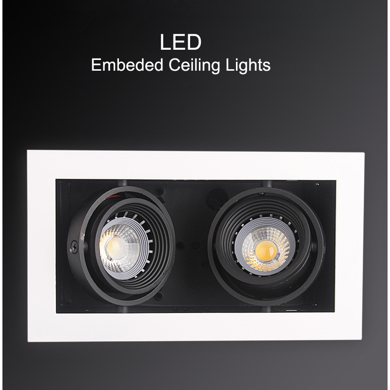 LED Ceiling Lights Double LED Embed spot lamps 2x5W led modules Recessed ceiling light lamp home Lighting for living room