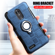 Cover For LG Stylus 3 Silicone Shockproof Phone Case / Stylo K10 Pro Armor Ring Stand