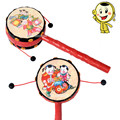 Baby Rattles Kids Chinese Traditional Hand Rattle Drum Handbell Child Musical Toys Gift