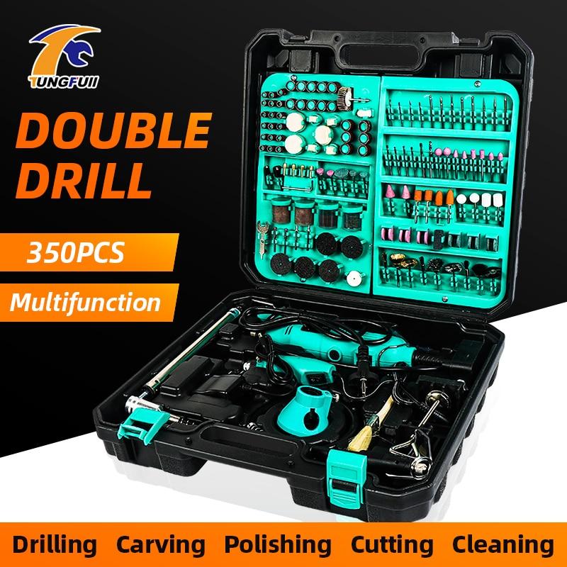 110V 220V Dremel Power Tools Electric Grinding Machine Mini Engraving Pen Electric Drilling Machine Accessories Kit EU US Plug