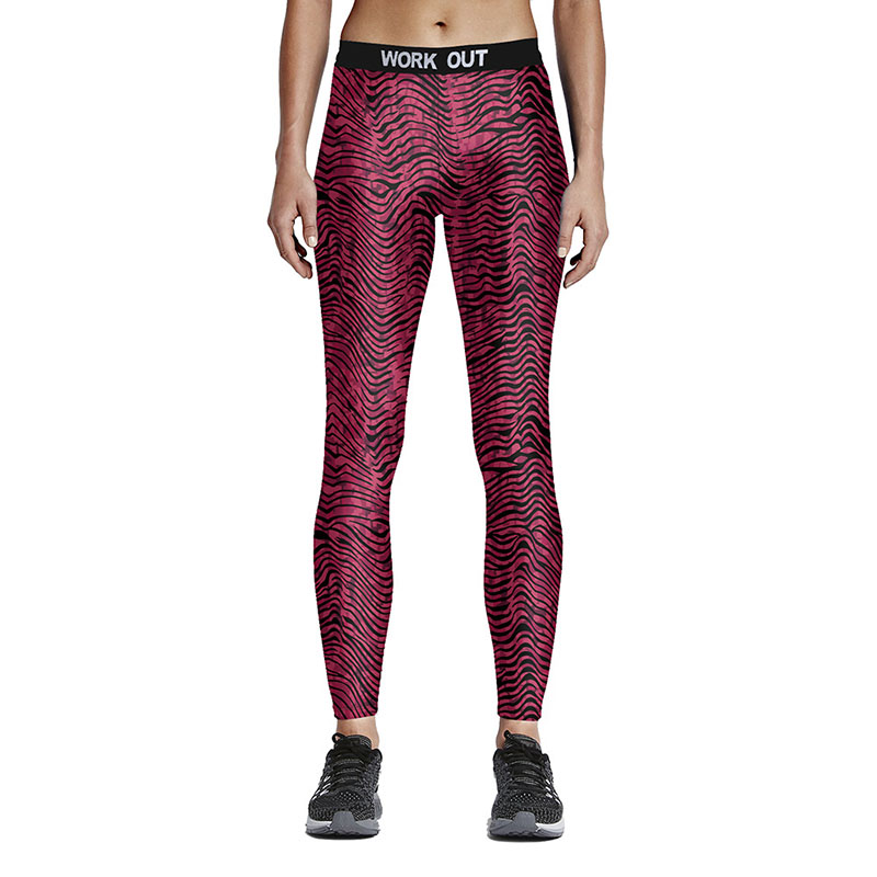 Hot Sexy Compress Women Sporting Leggings font b Fitness b font Workout Leggings Spiral Grain Printed