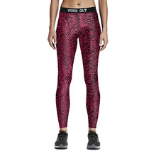 Hot Sexy Compress Women Sporting Leggings Fitness Workout Leggings Spiral Grain Printed Skinny High Waist Pencil Pants S-4XL