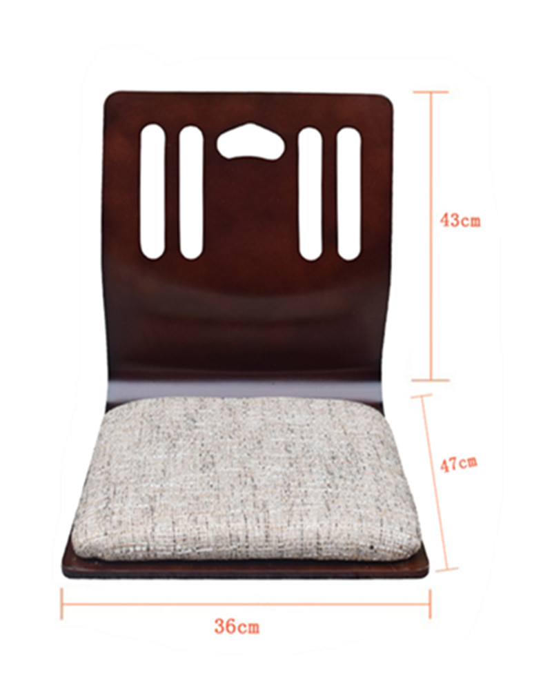 (4pcs/lot)Floor Japanese Chairs Mahogany Finish Living Room Furniture Sitting Chair Tatami Zaisu Floor Legless Chair Wholesales
