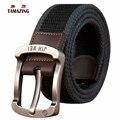 2016 Hombre broche hebilla lona correa de alargue cinturón casual lona cinturón 100/110/120/130CM